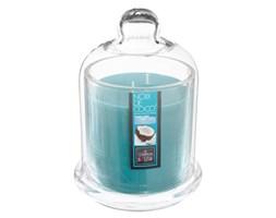 Kokosowa świeca zapachowa w świeczniku z kloszem, kominek zapachowy ze słodką nutą aromatyczną
