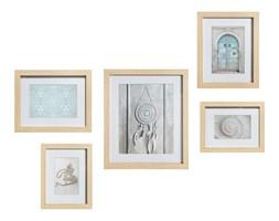 Zestaw pięciu ramek w stylu śródziemnomorskim gotowa dekoracja na ścianę