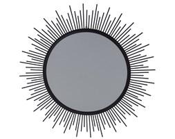 Lustro z metalową czarną obudową to oryginalny ciekawy i modny dodatek wnętrza domu