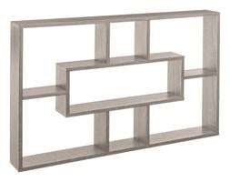 Półka do powieszenia na ścianę, nowoczesny regał z przegródkami różnej wielkości