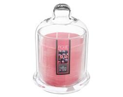 Figowa świeca zapachowa w świeczniku z kloszem, kominek zapachowy ze słodką nutą aromatyczną