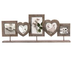 Ramka z drewna na pięć zdjęć, piękna oprawa na fotografie