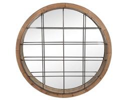 Lustro wiszące okrągłe, okratowane, 122x122x13 cm (JL62130)