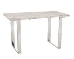 Biurko, stolik, konsola Wood White, drewno, 73x130x70 cm (JL51910)