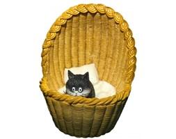 Home Decor - Kot w koszyku - Figurka