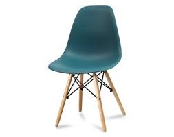2d6fa608d41916 Krzesło nowoczesne na drewnianych bukowych nogach stylowe do salonu  turkusowe 212 AB