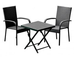Komplet mebli ogrodowych stolik z krzesłami Pico z technorattanu czarny