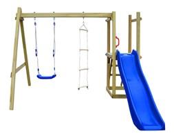 vidaXL Plac zabaw ze zjeżdżalnią, drabinkami i huśtawką, drewno FSC