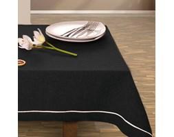 DecoKing - Obrus z dekoracyjnym paskiem - Czarny
