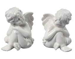 Aniołki na szczęście, ceramiczne figurki, 2 szt.