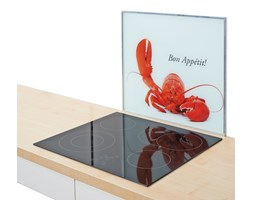 Płyta ochronna na kuchenkę ZELLER, biała, 56x50 cm