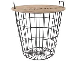 Stolik-pomocnik z uchwytami, czarny, 36x38,5 cm