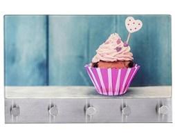 Szklana tablica magnetyczna z wieszakami WENKO Cupcake, 6 elementów
