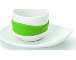 Zestaw czterech filiżanek do espresso, zielony Leaf PO:, 13,1x11,2x5,2 cm