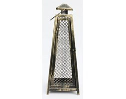 Lampion metalowy, latarnia, 60x21x21 cm