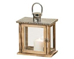 Lampion, odense, brązowy, mały, 26x22,5x13,5 cm