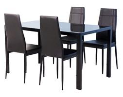 Stół + 4 krzesła Soma, czarny, 120x70x75 cm