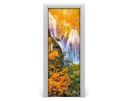 Naklejka na drzwi samoprzylepna Wodospad jesienią