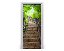 Fototapeta samoprzylepna na drzwi Schody w lesie