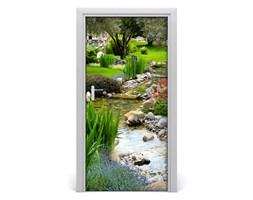 Naklejka fototapeta na drzwi Azjatycki ogród