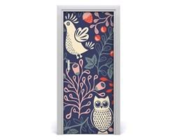 Naklejka samoprzylepna na drzwi Kogut kura sowa