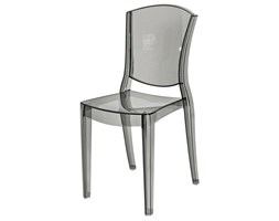 Krzesło Designerskie LOTUS transparentne przydymione szare PROMOCJA