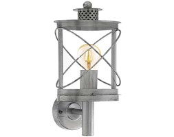 Kinkiet Eglo Hilburn 1 94865 lampa ścienna oprawa zewnętrzna 1x60W E27 IP44 srebrny/orzech