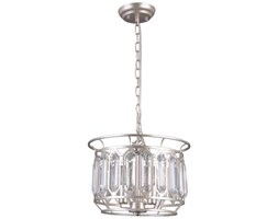LAMPA wisząca PRISCILLA PND-43388-3B Italux metalowa OPRAWA glamour ZWIS na łańcuchu z kryształami crystal srebrny szampański