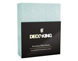 DecoKing - Prześcieradło Frota + Gumka - Błękitny