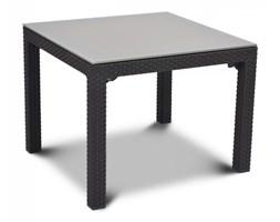 Stół ze szklanym blatem 72x72cm Curver Sumatra antracyt kod: BK-002087
