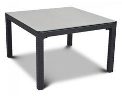 Stół ze szklanym blatem 94x94cm Curver Sumatra antracyt kod: BK-002085