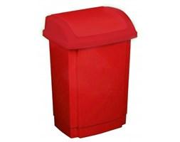 Plastikowy kosz na śmieci PLAST TEAM SWING CZERWONY 10 l -- czerwony - rabat 10 zł na pierwsze zakupy!