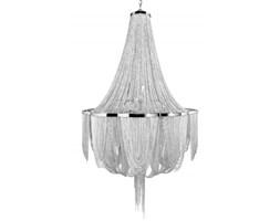 Żyrandol, lampa wisząca Glamour Silver, metal, 140x85x85 cm (Z39109)
