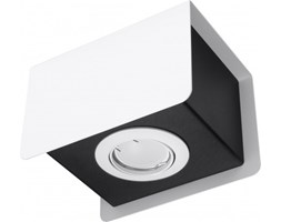 Sollux Lampa Sufitowa Designerski Minimalistyczny Plafon STEREO 1 BIAŁY