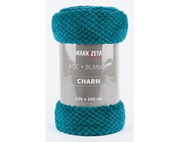 "Miękki koc ""Charm"" - 150x200 cm - turkusowy"