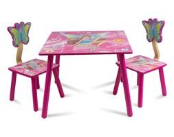 Zestaw dziecięcy stół + krzesła z drewna meble dziecięce wróżki różowy UC121420