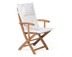 Krzesło ogrodowe drewniane poducha beżowa MAUI