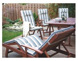 Beliani Krzesło ogrodowe drewniane poducha kolorowe pasy TOSCANA
