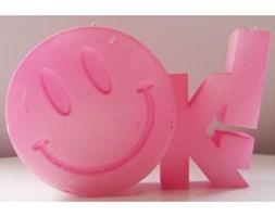 Candellana OK Sign Candle świeca dekoracyjna Jest OK! Smile Emotikon 2 outlet II gatunek- Light Pink Pearl