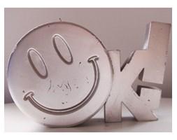Candellana OK Sign Candle świeca dekoracyjna Jest OK! Smile Emotikon outlet II gatunek- Silver Metallic