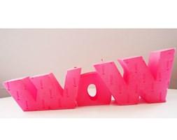 Candellana WOW Sign Candle świeca dekoracyjna WOW Napis 1 Outlet II gatunek - Pink Pearl