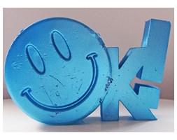 Candellana OK Sign Candle świeca dekoracyjna Jest OK! Smile Emotikon 2 outlet II gatunek- Blue Metallic