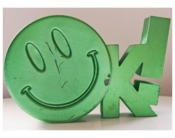 Candellana OK Sign Candle świeca dekoracyjna Jest OK! Smile Emotikon 1 outlet II gatunek- Green Metallic