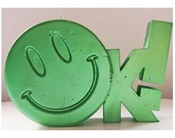 Candellana OK Sign Candle świeca dekoracyjna Jest OK! Smile Emotikon 2 outlet II gatunek- Green Metallic
