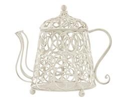 DZBANEK lampion biały metalowy, wys. 26 cm