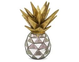 ANANAS dekoracja złoto-srebrna z kawałkami luster, wys. 27 cm