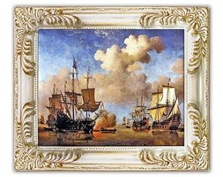 Willem van de Velde the Younger - Dutch ship coming to anchor - 27x32 cm - G93659
