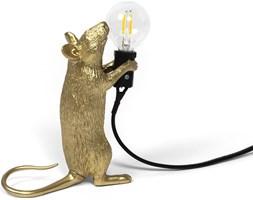 Lampa Mouse złota stojąca