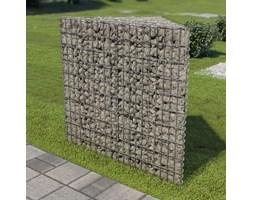 vidaXL Donica gabionowa z galwanizowanej stali, 75x75x100 cm