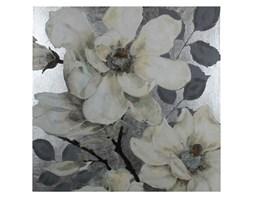 OBRAZ Kwiaty w srebrze 120 X 120  cm